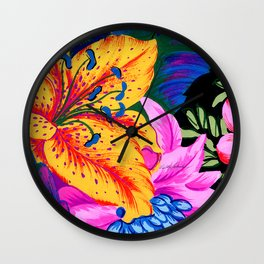 Let's Go Abstract Wall Clock