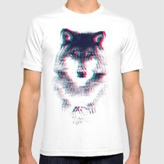 Act like a wolf. White X-LARGE Mens Fitted Tee