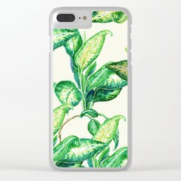 smooth leaves Clear iPhone Case