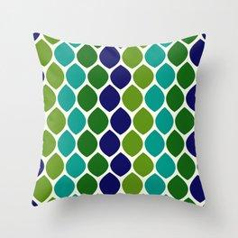 Abstract Snakeskin Pattern Throw Pillow