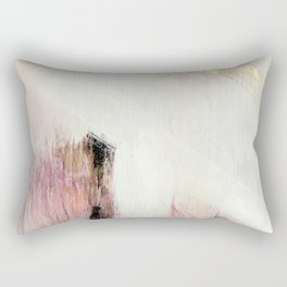 Sunrise [2]: a bright, colorful abstract piece in pink, gold, black,and white Rectangular Pillow