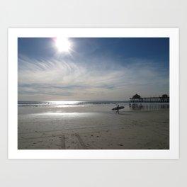 Redondo Beach Surfer Art Print