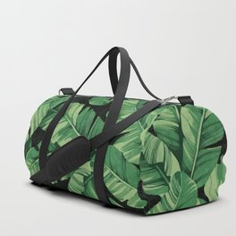 Tropical banana leaves II Duffle Bag