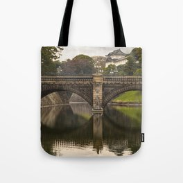 Stone Bridge at the Imperial Palace in Tokyo Tote Bag