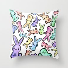 Pastel Bunnies Throw Pillow