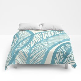 Blue Banana Leaf / Tropical Plants Comforters