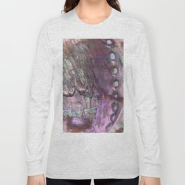 Shimmery Lavender Abalone Mother of Pearl Long Sleeve T-shirt
