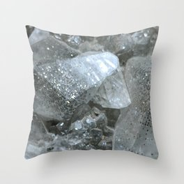 Pyrite in Calcite Throw Pillow