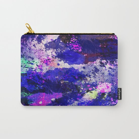 Freedom - Abstract In Blue And Purple Carry-All Pouch