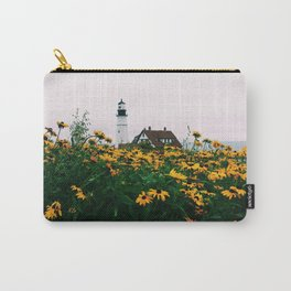 Portland Headlight and Flowers Carry-All Pouch