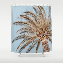 a palm tree xix Shower Curtain