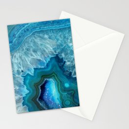 Turquoise Blue Agate Stationery Cards