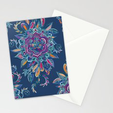 Deep Summer - Watercolor Floral Medallion Stationery Cards