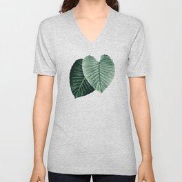 Love Leaves Evergreen - Him & Her #2 #decor #art #society6 Unisex V-Neck