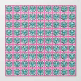Mid Century Modern Pink Teal Geometric Canvas Print