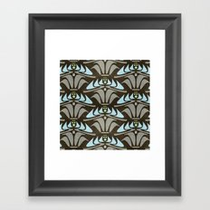 Blue - Arts and Crafts Inspired Stylized Floral Pattern - Susan Weller Framed Art Print