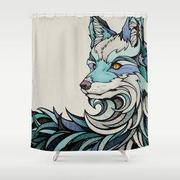 Berlin Fox Shower Curtain