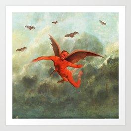 FLYING EVIL Art Print