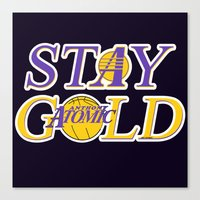 stay gold Canvas Prints featuring Stay Gold by Ant Atomic