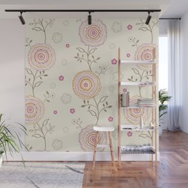 Folky Flowers Wall Mural
