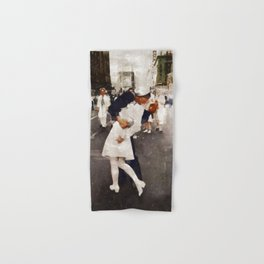 The Kiss,VJ Day, WWII Hand & Bath Towel