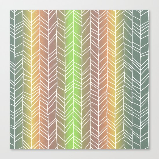 Colorful Rainbow Feather Pattern Canvas Print