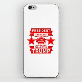 President Trump iPhone Skin