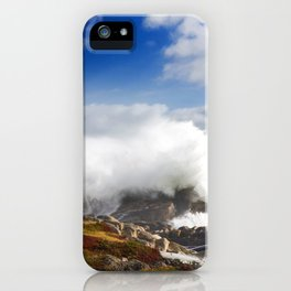 Wave crashing in Louisbourg iPhone Case