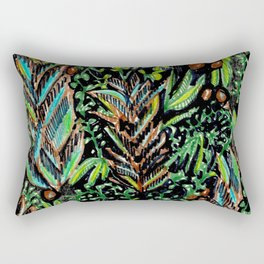 A Good Tropical Pattern With a Black Background is Hard to Find Rectangular Pillow