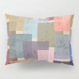 Vintage Colorful Squares Pillow Sham