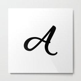 'A' - Initial Graphic Metal Print