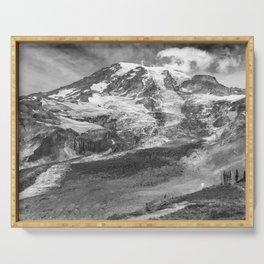 Glaciated Mount Rainier Serving Tray