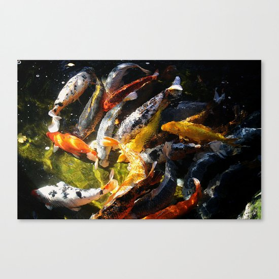 Koi fish abstract canvas print by arts and herbs society6 for Koi canvas print