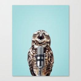 SINGING OWL Canvas Print
