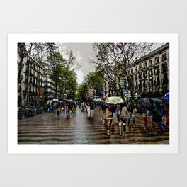 Memories of Spain 10 - Barcelona Las Ramblas Art Print