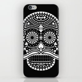 Black Skull  White Suits iPhone Skin