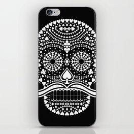 Black Skull  White Suits iPhone Skin