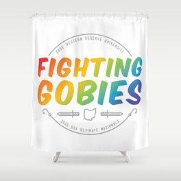 Fighting Gobies Nationals - Rainbow Shower Curtain