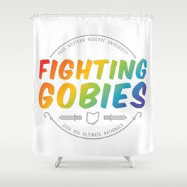 Fighting Gobies Nationals - Rainbow Shower Curtain