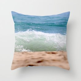 Crashing Ashore Throw Pillow