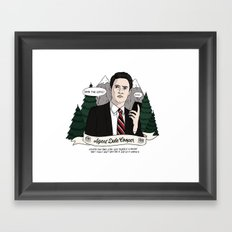 Twin Peaks (David Lynch) Agent Dale Cooper Framed Art Print