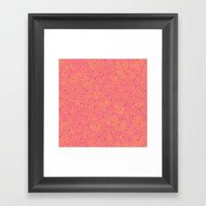Transient half tone color blocking Framed Art Print