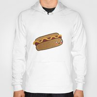 hot dog Hoodies featuring Hot Dog by Tuesday Alissia