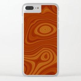 Woodgrain Clear iPhone Case