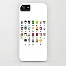 Pixel Supervillain Alphabet 2 iPhone Case
