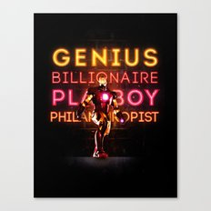 Iron Man: Genius Billionaire Playboy Philanthropist Canvas Print