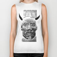 pocket fuel Biker Tanks featuring Nightmare Fuel by Danielle Brady