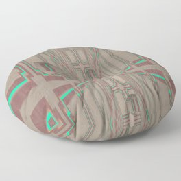 Pallid Minty Dimensions 9 Floor Pillow