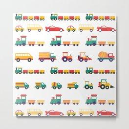 Farm Trucks and Trains Metal Print