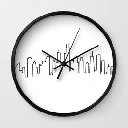 Chicago, Illinois City Skyline Wall Clock